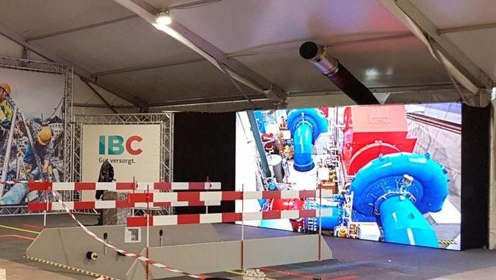 Guada Messe, Chur, LED Screen 2.5x4.5m und Beleuchtung installiert